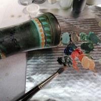 Schade aan een vaas van Gouda Plateel 5.jpg