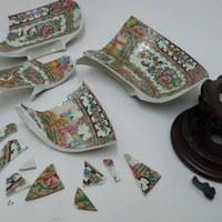 Restauratie antieke gekleurde porseleinen sier kom 1c.jpg
