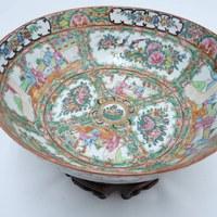 Restauratie antieke gekleurde porseleinen sier kom 5.jpg