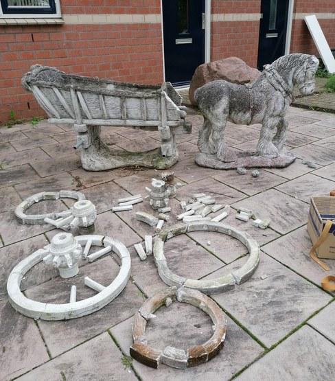 Herstellen van een stenen tuinbeeld